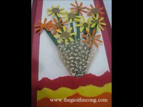 Hướng dẫn làm thiệp hình một bó hoa