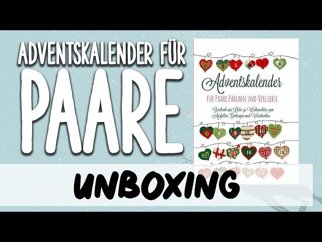 Unboxing Adventskalender Für Paare