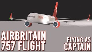 ROBLOX | AirBritain B757 Flight! | Flying as Captain | #4