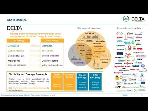 The European Market Monitor on Energy Storage (EMMES) - Launch webinar