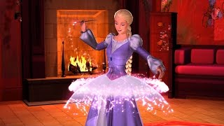 Barbie as Rapunzel -  Creating dresses with the magical paintbrush