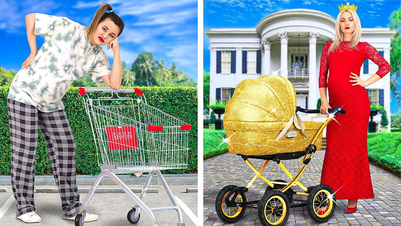 RICH PREGNANT VS BROKE PREGNANT || Funny Situations And Awesome Moments by 123 GO!