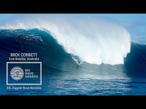 Mick Corbett at Cow Bombie - 2015 XXL Biggest Wave Nominee - WSL Big Wave Awards