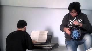 nasam alayna lhawa(fayrouz) cover on piano keyboard and derbokka