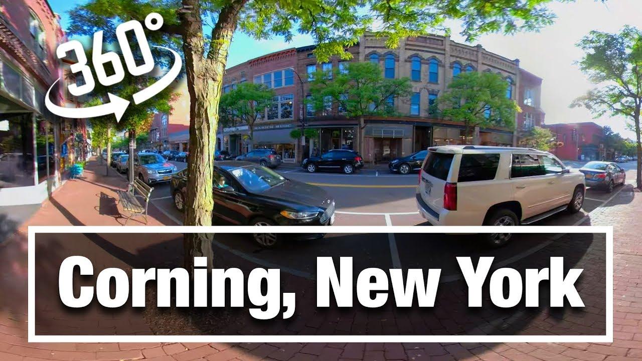 City Walks:  Corning, NY 360 Virtual Treadmill Walking Tour