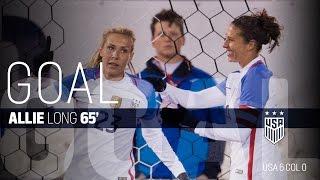 WNT vs. Colombia: Allie Long Second Goal - April 6, 2016
