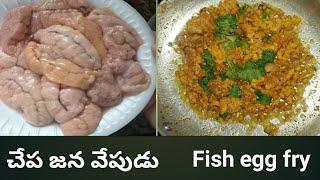 చప జన వపడ  Fish Egg Fry Recipe In Telugu