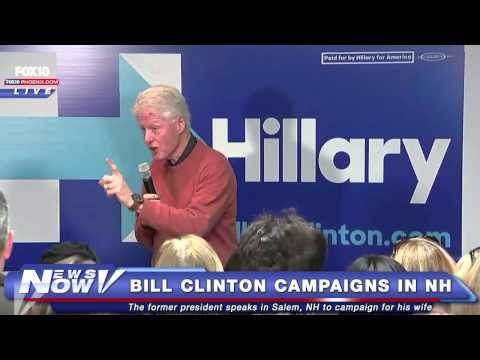 FNN: Bill Clinton Campaigns for Hillary in Salem, New Hampshire
