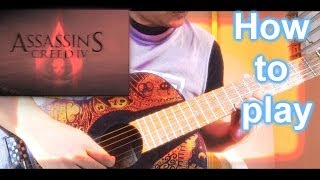How to play - Main theme [Assasin´s Creed IV Black Flag] on guitar with tabs