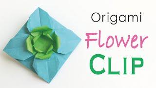 Origami Paper Flower Clip Pin Broach - Origami Kawaii〔#167〕