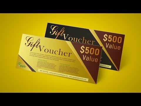 Gift Voucher Design - Photoshop CC Tutorial thumbnail