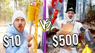 $10 VS $500 SURVIVAL WEAPONS! *Budget Challenge*