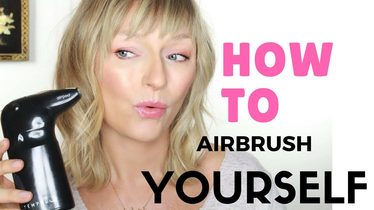 how to: airbrush on yourself!! mature flawless skin! long wearing