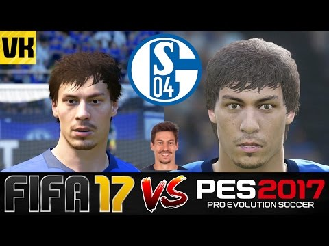 FIFA 17 VS PES 2017 VS REAL LIFE SCHALKE 04 PLAYER FACES COMPARISON (Howedes, Naldo, Stambouli)