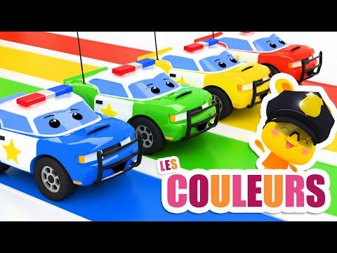 COULEURS - Voitures de police, bus, moto - TITOUNIS