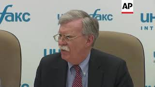 US Security Adviser John Bolton says that Kremlin has hurt itself by meddling in the U.S. election