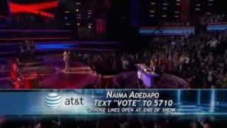 American Idol 10 Top 11 - Naima Adedapo - Dancing In The Street