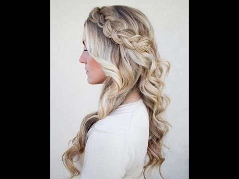 Dutch Braid With Curls Hairstyle Tutorial