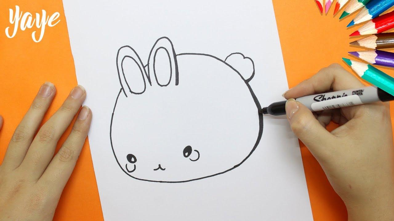 Como Dibujar un Conejo kawaii / How to draw a rabbit ...