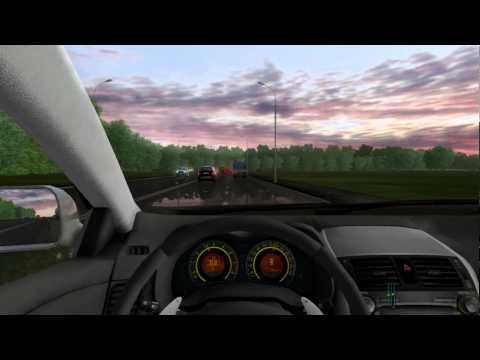 3D Инструктор / City Car Driving Водитель не торопись!