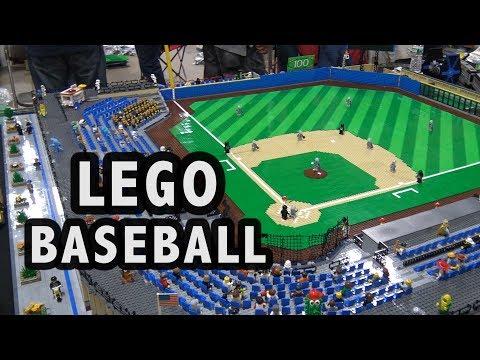 Custom LEGO Baseball Stadium   Philly Brick Fest 2017