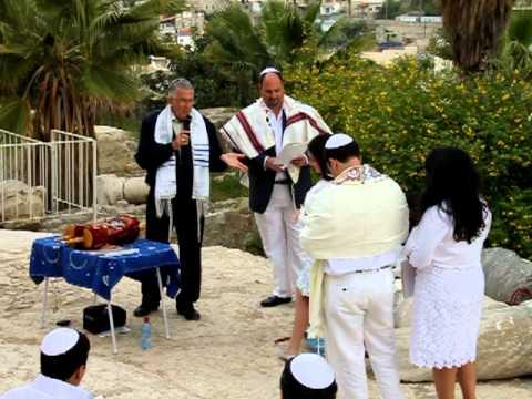 Bat Mitzvah of a Jewish girl becoming a woman, in Jerusalem
