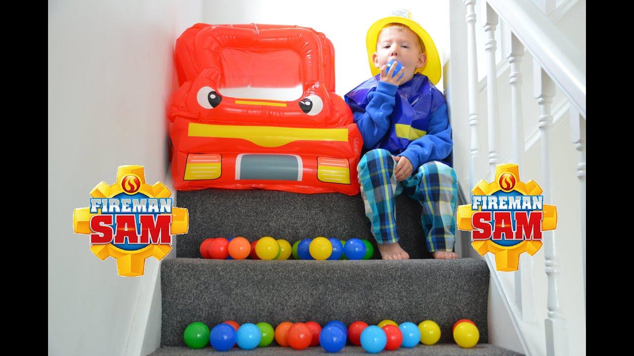 Best Fireman Sam Toys Kids : Fireman inflatable fire truck ball pit fun sam