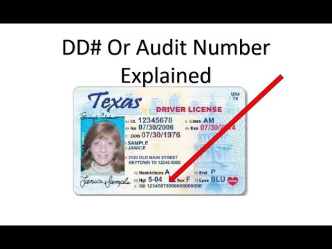 What Is The DD or Audit Number On Your Drivers License Explained