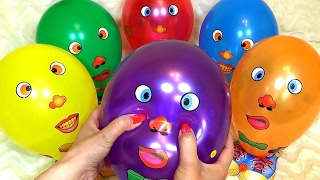 Learn Colors with Wet Balloons for Babies, Toddlers and Preschool Kids | Kid finger family