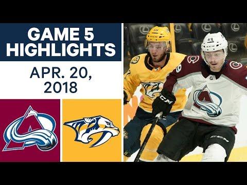 NHL Highlights | Avalanche vs. Predators, Game 5 - Apr. 20, 2018