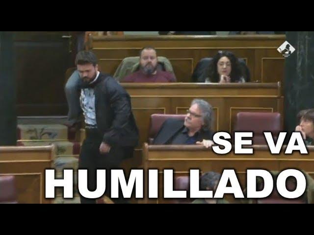 GABRIEL RUFIÁN ABANDONA el CONGRESO HUMILLADO tras el REPASO que le mete ZOIDO