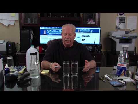 Colloidal Silver Laser Pointer Light Test