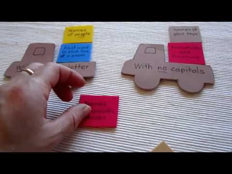 Grade 1 - Language Arts, Grammar: Truck Loads Game, For Reviewing Capitalization Rules.