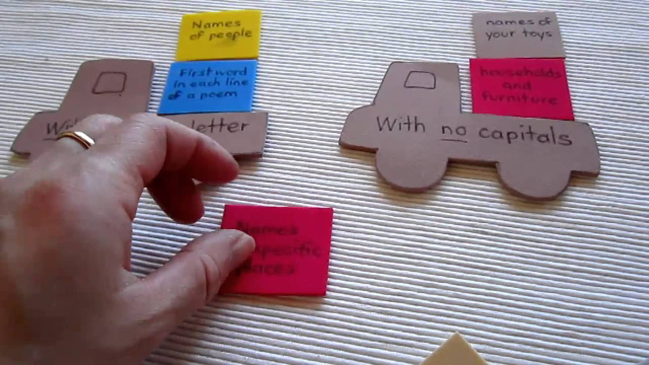 Grade 1 Language Arts Grammar Truck Loads Game For Reviewing Capitalization Rules You