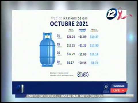 Publican los nuevos precios del cilindro de gas propano