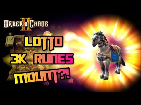 Order And Chaos 2: Redemption - Lottery - Horse Mount!?