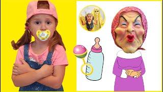 Настя и странная няня | Очень забавная история для детей | Настя и Лимон