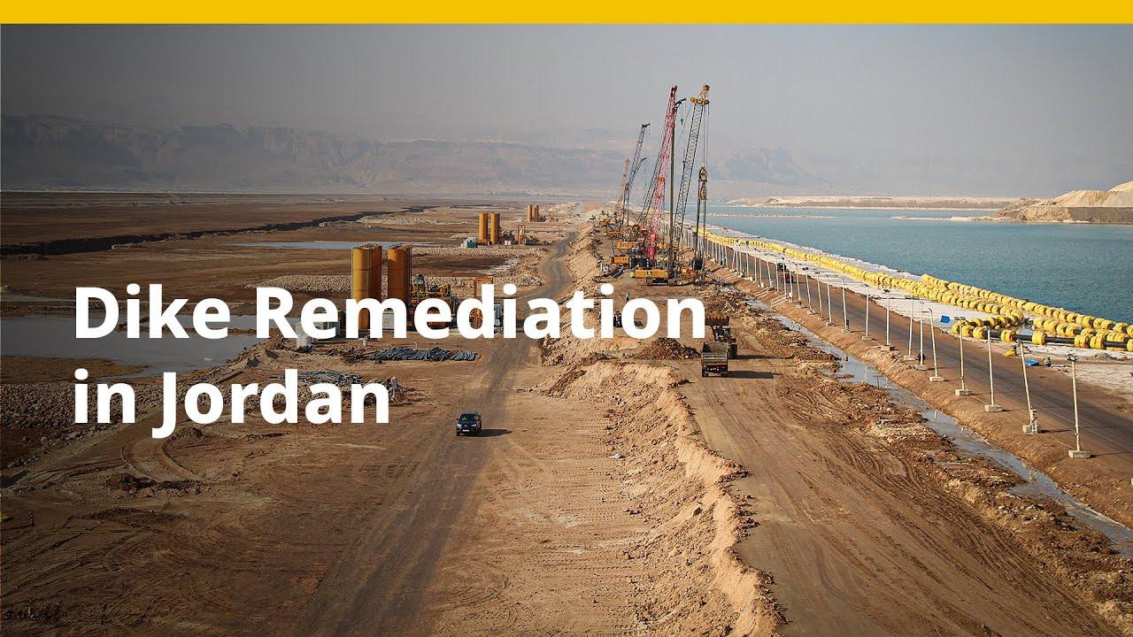 BAUER Spezialtiefbau GmbH – Dike Remediation for Potash Production in Jordan (with Arabic Subtitles)
