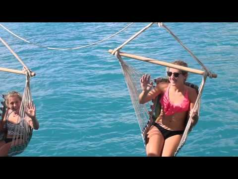 Family Sailing the BVI On A Catamaran