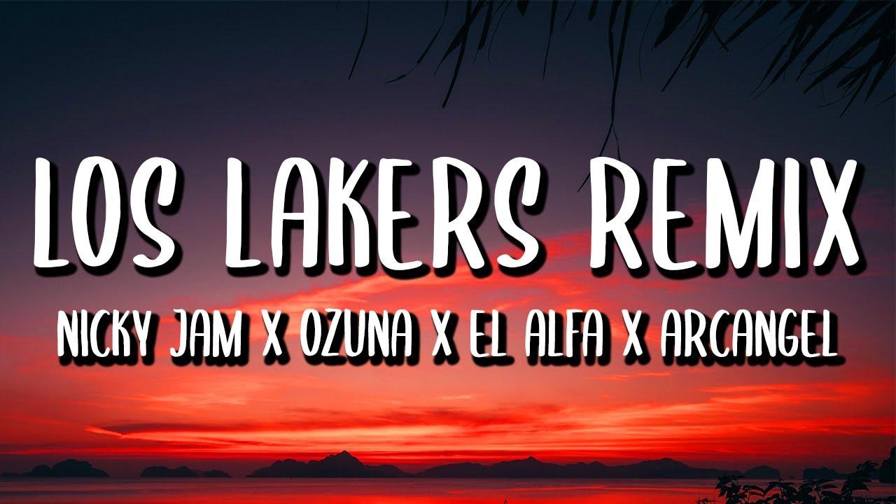 Nicky Jam, Ozuna, El Alfa, Arcangel - A Correr Los Lakers REMIX (Letra/Lyrics) ft. Secreto Biberon