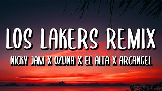 Nicky Jam, Ozuna, El Alfa, Arcangel - A Correr Los Lakers REMIX (Letra/Lyrics) ft. Secreto Biberon