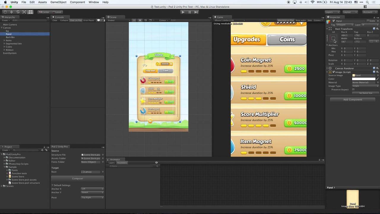 Psd 2 Unity Pro - Import PSD into Unity uGUI with layers