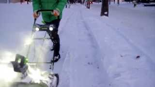 compare: greenworks pro 80-volt cordless electric snow blower vs greenworks corded