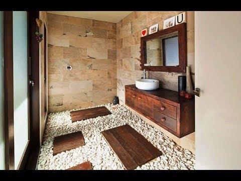 Desain Kamar Mandi Motif Batu Alam Rumah Moderen Minimalis