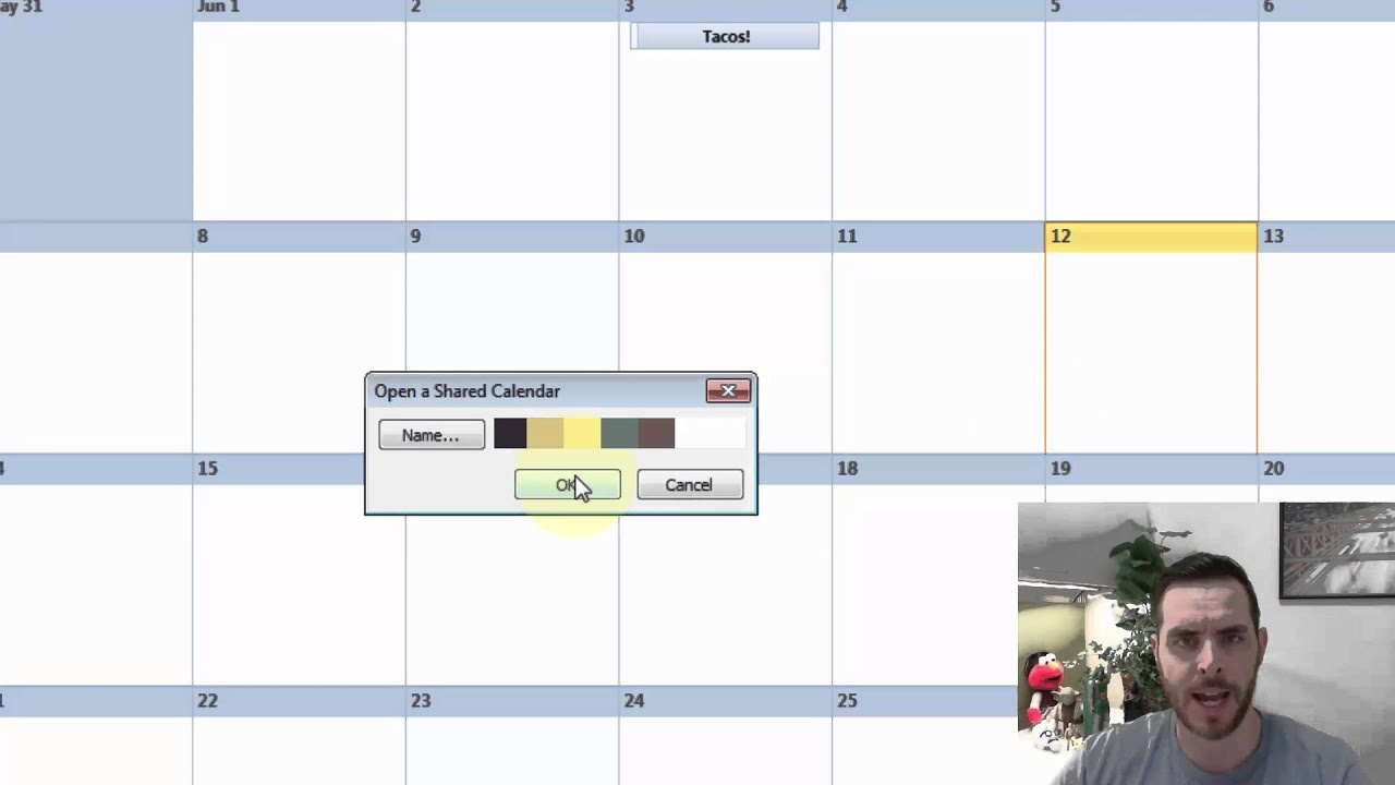 how to send a calendar request in outlook