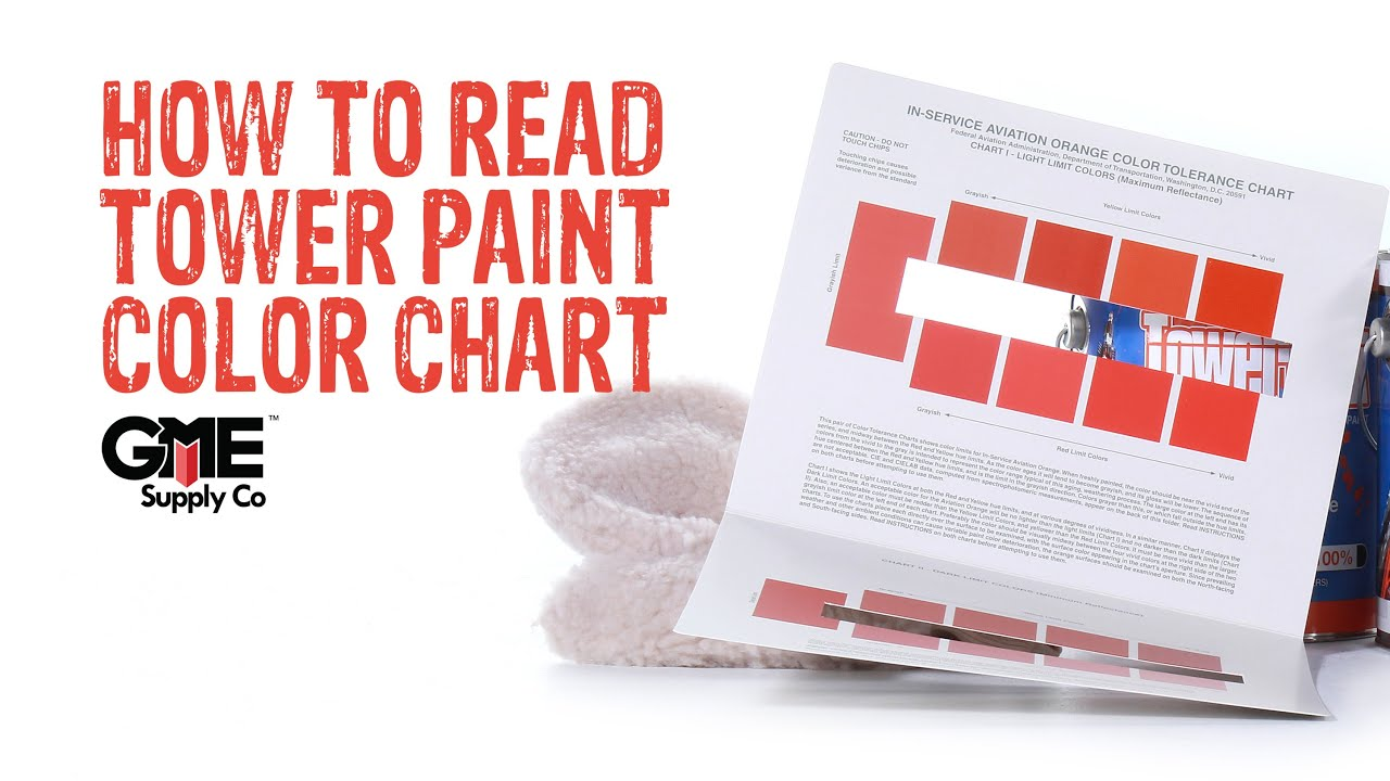 Tower Paint Color Chart How To Gme Supply Youtube