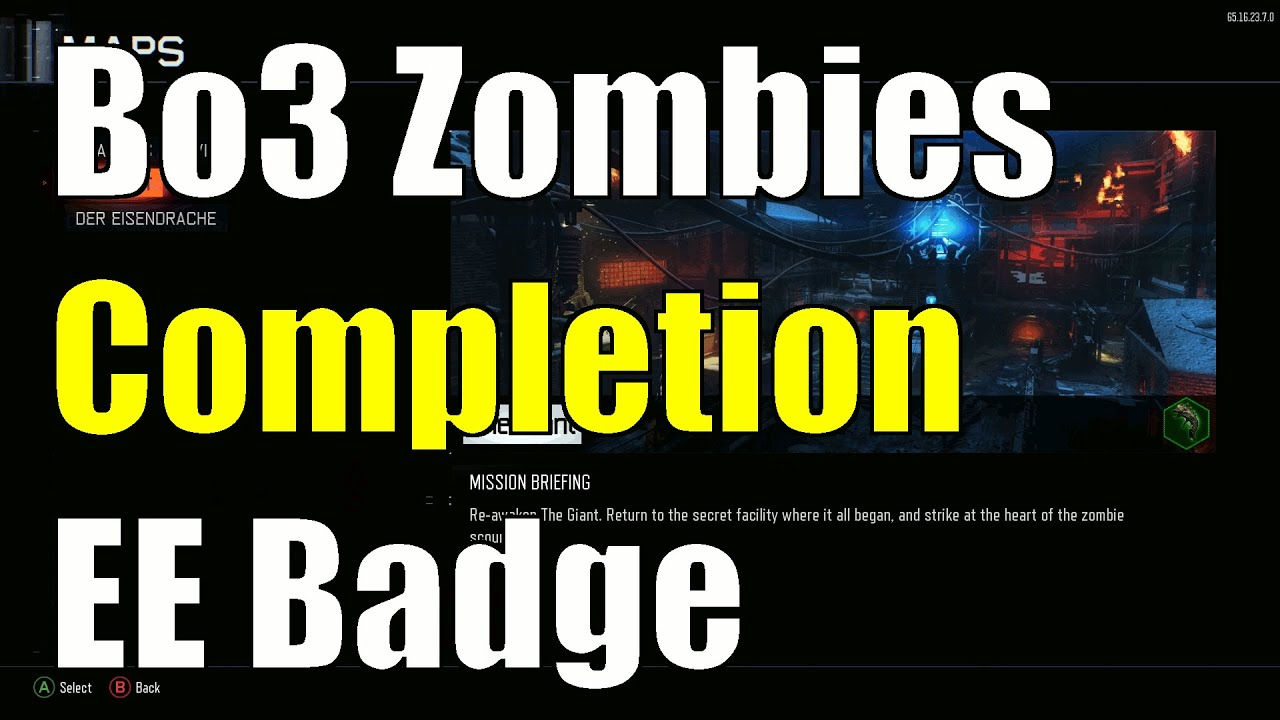 Cod Black Ops 3 Zombies New Gate Worm Easter Egg Completion Badge