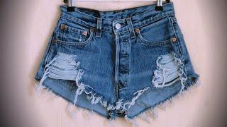 DIY: Как сделать модные рваные шорты / how to make ripped shorts(Если у Вас не получилось или Вы не хотите заморачиваться с переделкой - Вы можете дать мне свои джинсы, шорты..., 2014-08-11T00:50:42.000Z)