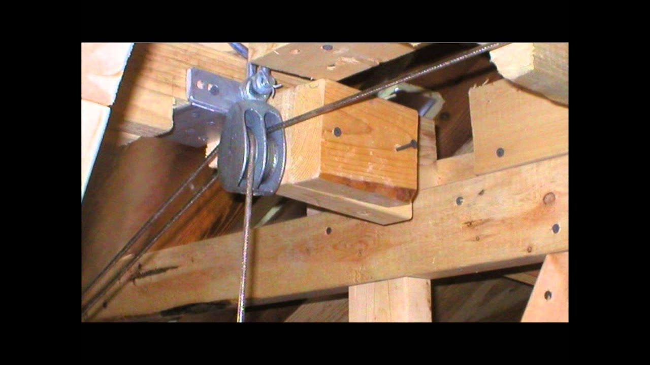ATTIC LIFT HOW I MADE IT (PICTURES)   YouTube