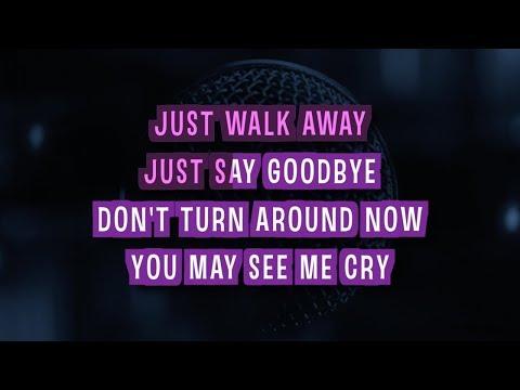 Just Walk Away Karaoke Version by Celine Dion (Video with Lyrics)